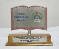 Ratna Sagar - Awards for the best text book produced during 1997 in middle category first