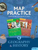 4-Colour Map Practice Geography History 6 to 8